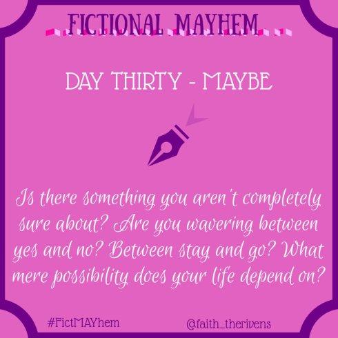 FictMAYhem Day 30