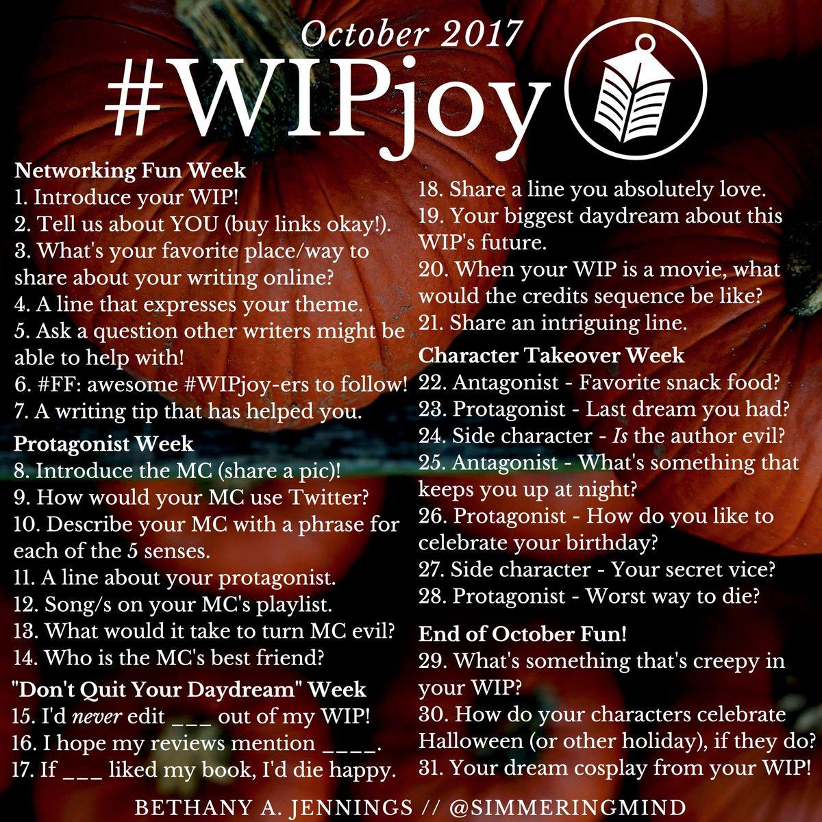 #WIPjoy - Oct 2017